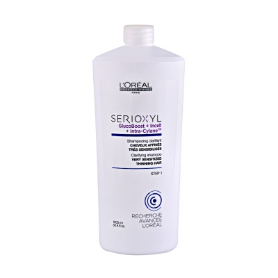 SERIOXYL CLARIFYNG SHAMPOO GLUCO BOOST CHEVEUX AFFINES COLORES STEP 2 1000 ML