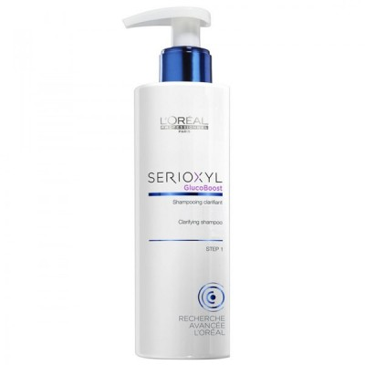 L'OREAL SERIOXYL CLARIFYNG SHAMPOO GLUCO BOOST CHEVEUX AFFINES COLORES STEP 1 250 ML