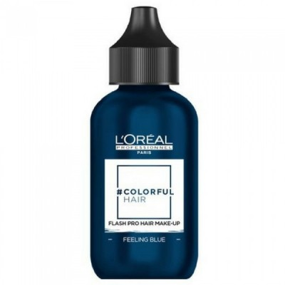 L'OREAL COLORFUL HAIR FLASH PRO HAIR MAKE-UP FEELING BLUE 60 ML
