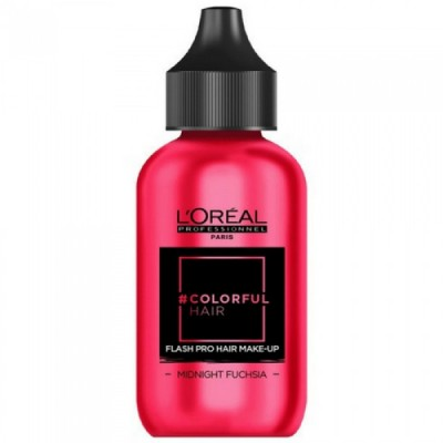 L'OREAL COLORFUL HAIR FLASH PRO HAIR MAKE-UP MIDNIGHT FUCHSIA 60 ML