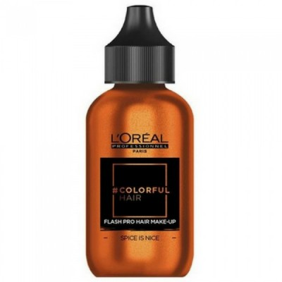 L'OREAL COLORFUL HAIR FLASH PRO HAIR MAKE-UP SPICE IS NICE 60 ML