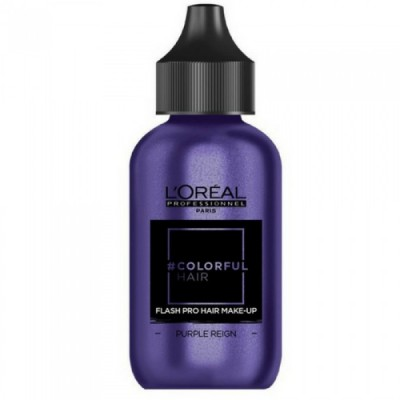 L'OREAL COLORFUL HAIR FLASH PRO HAIR MAKE-UP PURPLE REIGN 60 ML