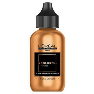L'OREAL COLORFUL HAIR FLASH PRO HAIR MAKE-UP GOLD DIGGER 60 ML