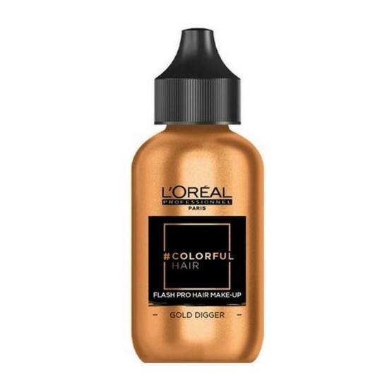L'OREAL COLORFUL HAIR FLASH PRO HAIR MAKE-UP GOLD DIGGER 60 ML