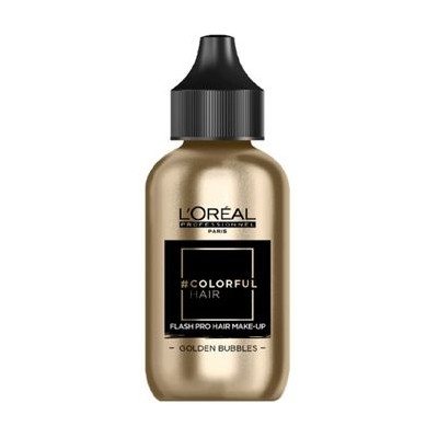L'OREAL COLORFUL HAIR FLASH PRO HAIR MAKE-UP GOLDEN BUBBLES 60 ML
