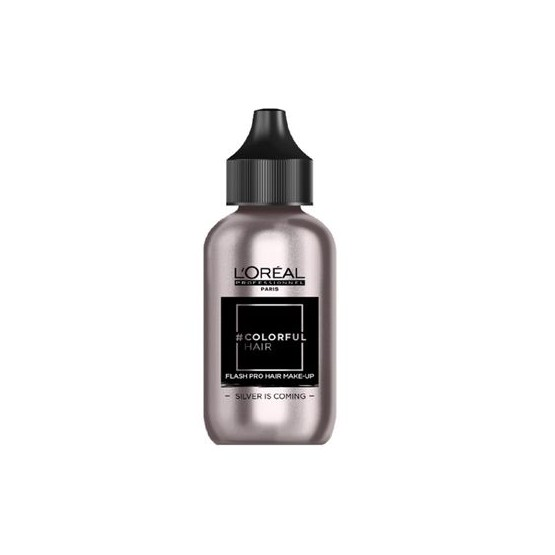 L'OREAL COLORFUL HAIR FLASH PRO HAIR MAKE-UP SILVER IS COMING 60 ML