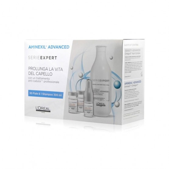 L'OREAL SERIE EXPERT AMINEXIL ADVANCED FIALE ANTICADUTA 30X6 ML + DENSITY ADVANCED SHAMPOO 300 ML