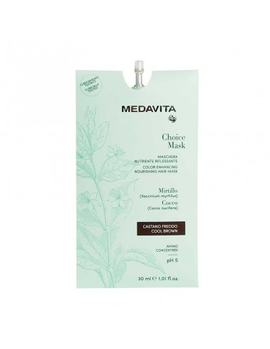 MEDAVITA CHOICE MASK RIFLESSANTE CASTANO FREDDO 30 ML