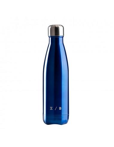 Orion Bottle Glossy Blu è una borraccia termica in acciaio inox da 500 ml