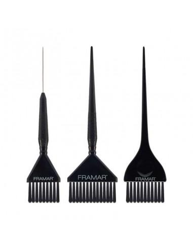 Framar Family Pack Nero pennelli per tinta capelli