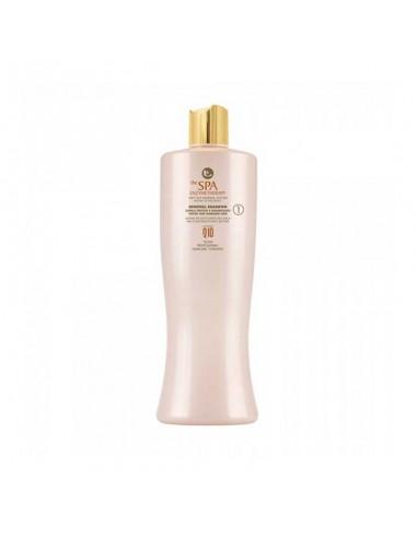 Shampoo detergenete per capelli trattati e danneggiati.