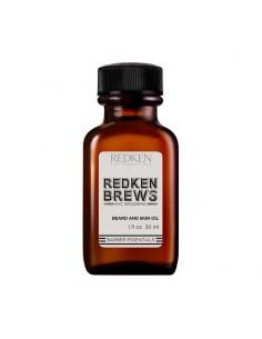 Olio idratante per pelle e barba Redken Brews Beard and Skin Oil 30 ml