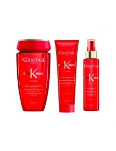 Kit solari per capelli Kérastase Soleil shampoo + crema + spray protettivo.
