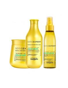 Kit solari per capelli L'Oréal Solar Sublime Shampoo + Maschera + Spray.