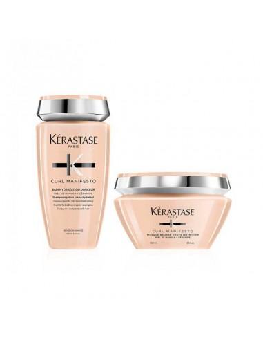 Kit shampoo + maschera per capelli ricci Kérastase Curl Manifesto Bain + Masque.