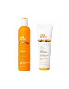 Kit Shampoo e conditioner idratante per capelli secchi milk_shake moisture plus.