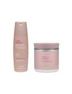 Shampoo e maschera del trattamento lisciante di mantenimento alla cheratina.